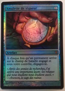 Amulette-de-vigueur-PREMIUM-FOIL-VF-French-Amulet-of-Vigor-Magic-mtg
