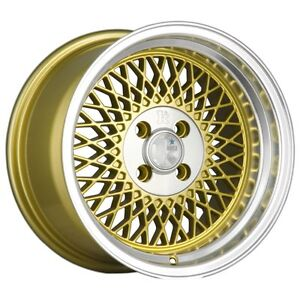Details about 15X8 5 +17 Klutch SL1 4x100 Gold Wheel Fits Vw Cabriolet Neon  Echo Mirage
