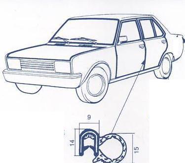 Guarnizione vano porta dx e sx Fiat 131-132