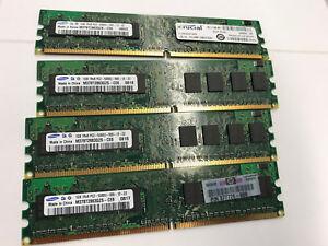 NEW TRANSCEND 4GB 4X1GB DDR2 PC2-5300 667MHZ DESKTOP RAM MEMORY