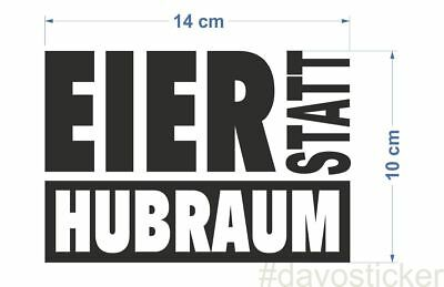 Eier statt Hubraum Sticker Aufkleber Simson MZ Trabant Wartburg Tuning