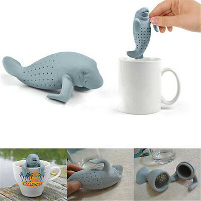 Kawaii Manatee Infuser Silicone Loose Tea Strainer Herbal Spice Filter Diffuser