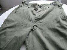 "WWII Korea US M-1943 Field OD Sateen M43 Pants 36"" Waist   Inseam 32"" Originals"