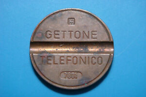 TF048 Italy Gettone Telefonico 1970 to 1979 full set of 10 vintage phone tokens
