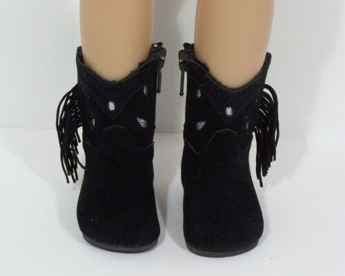 BLACK Faux Suede Cowboy Boots Doll Shoes For Sonja Hartmann 18 Kidz n Cats Debs