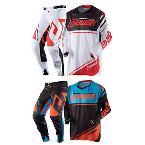 Answer Racing A18 Trinity Mens Off-Road Motorcycle Jerseys White//Red//X-Large
