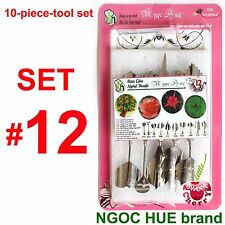 10 pieces high tech set# 12 stainless - 3D Gelatin Art Tools cake birthday party