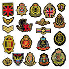 10PCS Preppy Embroidered Military Badge Armband Motif Applique Clothing Patch