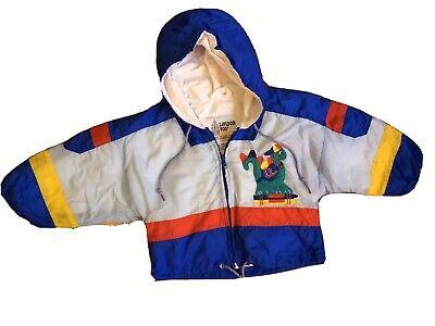 Vintage London Fog 18 Months Little Gurks Windbreaker Rain jacket with hidden hood