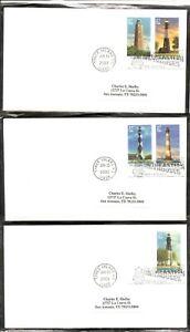 US-SC-3787-3791-Southeastern-Lighthouses-FDC-No-Cachet-1