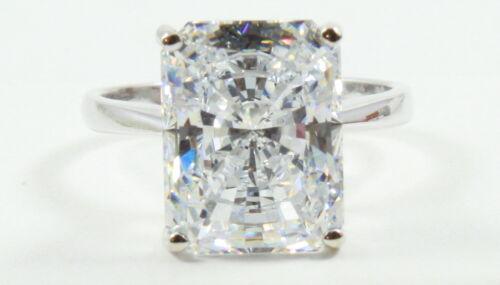 8.20CT Radiant Brilliant Cut  VVS1 Engagement Wedding Solitaire Ring 14K W Gold