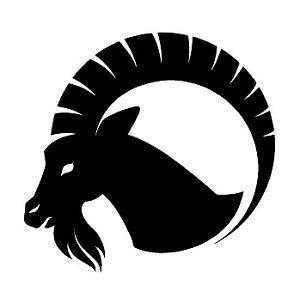 cabra-monte-goat-ziegen-pegatina-aufkleber-vinilo-vinyl-18-colours