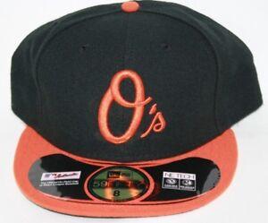 60b7b762449 NEW Mens NEW ERA Baltimore Orioles Black MLB 59FIFTY Baseball Fitted ...