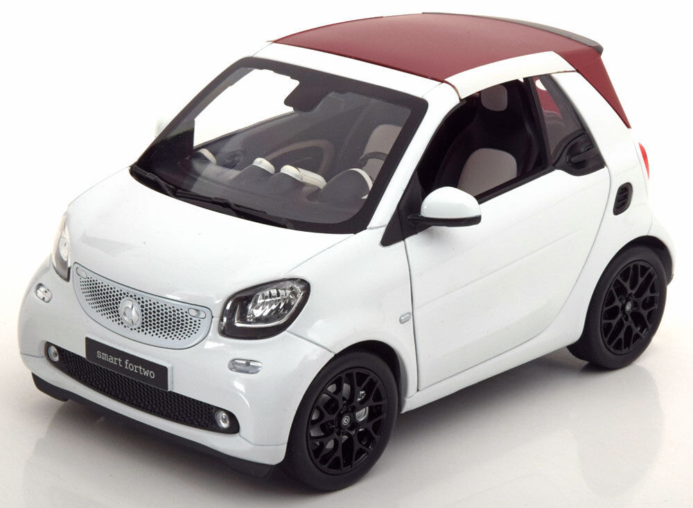 SMART FORTWO CABRIO SOFT TOP 2014 WHITE NOREV B66960291 1 18 MERCEDES WEISS