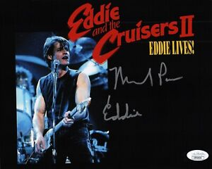 MICHAEL-PARE-Authentic-Hand-Signed-034-Eddie-and-the-Cruisers-034-8x10-Photo-JSA-COA-F