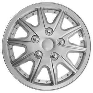Details about TopTech Revolution 14 Inch Wheel Trim Set Silver Set of 4 Hub Caps Covers