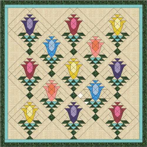 Quilt Kit//Lily Blossom Trellis//Pre-cut Fabric Ready To Sew//Gorgeous!!!