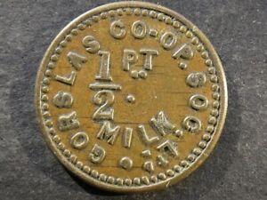 Co-op token, Wales, Carmarthenshire, Gorslas, 1/2 Pint Milk.
