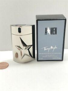 Amen by Thierry Mugler 2 ml Eau de Toilette Mini Spray Men, Metal Case, Vintage!
