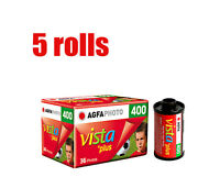 5 Rolls Agfa Vista Plus 400 35mm 135-36EXP Color Negative Film Fresh 2019