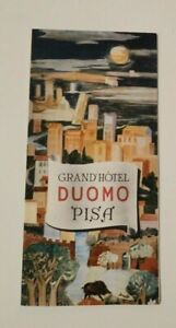 Vintage Travel Brochure Duomo Pisa Hotel Italy 1956 Advertising Map