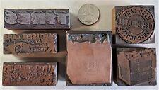 Vintage Copper Amp Wood Letterpress Print Block Stamp Automotive Cars Tires Pb22