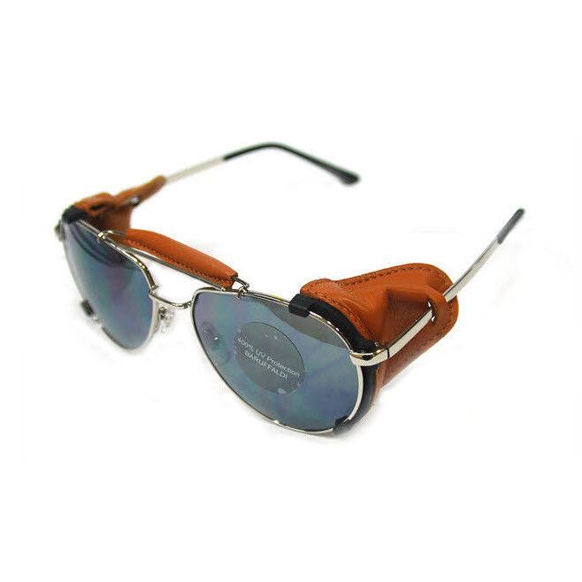 Baruffaldi Annapuruna Classical Goggle Smoke Lens Tan Farbe Leder Schutz