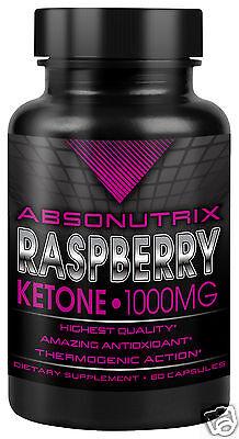 Absonutrix Raspberry Ketone 1000 Mg 60 Veg Caps Helps Burn Fat And