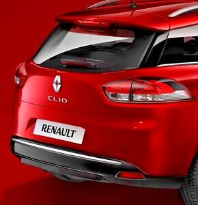 renault clio iv grandtour chrome rear trim strip trunk tuning tailgate garnish ebay. Black Bedroom Furniture Sets. Home Design Ideas