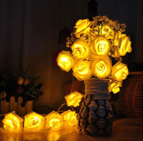 Halloween Pumpkin Rose Skull Bat Fairy String Light Outdoor Garden Party Lamp A+