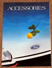 1987-88 FORD RS ACCESSORIES Brochure - Fiesta Escort Orion Capri Sierra Granada