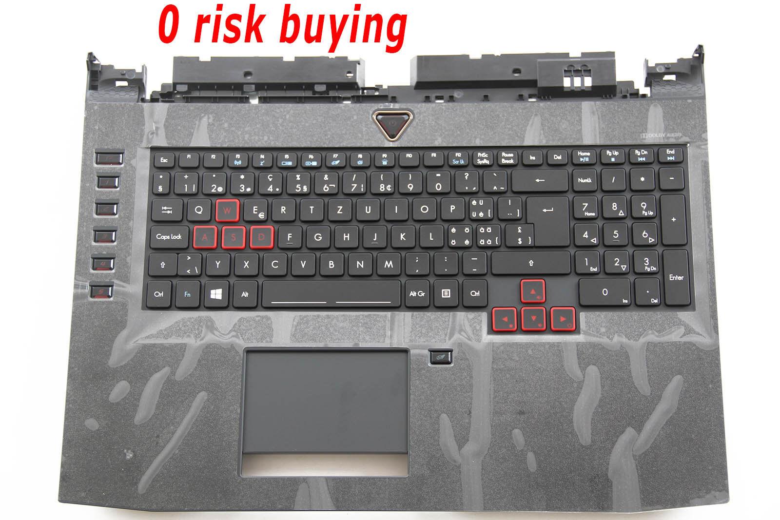 For Acer Predator 17 G9-793 Keyboard Swiss German Tastatur CH Backlit Top case
