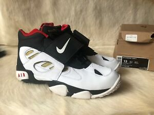 c17b11cd7d Nike Air Diamond Turf II 2 Sz 13 487658-070 White Black Deion ...