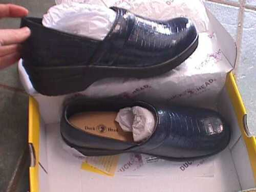 DUCK HEAD NURSING WORK CLOGS NAVY size 6 1//2 CROCO  BECKY WOMENS SHOES  CROC