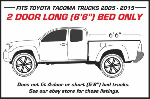 Matte Black Vinyl Decal Nightmare Wrap for Toyota Tacoma TRD 05-15 2D Long Bed