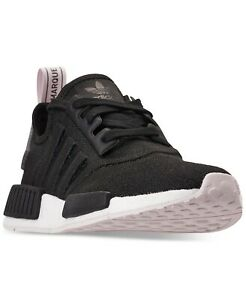 Adidas-Originals-NMD-R1-Boost-Women-s-Running-Shoes-Black-white-Casual-Sneakers