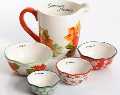 The Pioneer Woman 5 Piece Set 4 Piece Measuring Bowls 4 Cups Measuring Cup