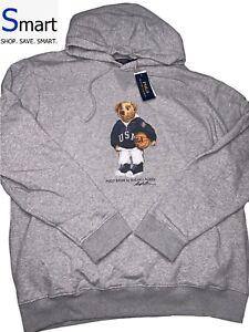 NWT-2XL-MEN-Polo-Ralph-Lauren-POLO-BEAR-USA-BASKETBALL-Fleece-Pullover-Hoodie