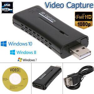 Portable Usb 2 0 Port Hd Hdmi 1080p 60fps Video Capture Card Monitor