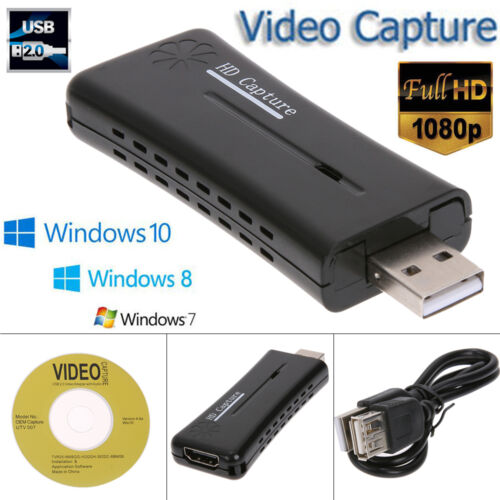 Portable USB 2.0 Port HD HDMI 1080P 60fps Video Capture Card Monitor for PC Cam