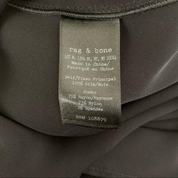 Rag and Bone Dana Silk Tunic Size 0 Black - image 8