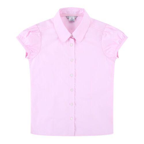 Bienzoe Big Girl/'s School Uniforms Oxford Long Puff Sleeve Blouse