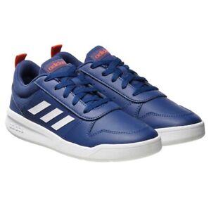 Adidas Kids Tensaur Blue White Court Sneaker Skateboard Gym Shoes Size 13K
