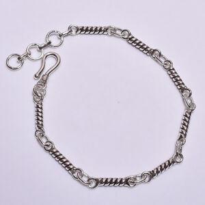 925-Solid-Sterling-Silver-Bracelet-Designer-Handcrafted-Fine-Jewelry-Gift-FBR32