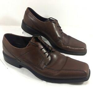 6d940549b831 Men s Ecco Johannesburg Perf Tie Oxfords Brown leather Sz 47 US 13 ...