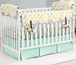 Image Is Loading Nursery Bedding Baby Crib Mini Two Pleat