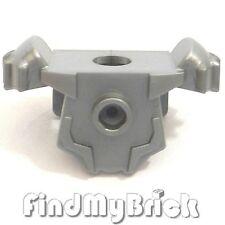 A015A Lego Heroe Minifigure Armor Shoulder Pads & 2 Back Studs - Flat Silver NEW