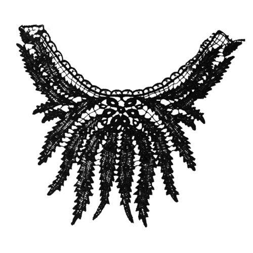 die Schwarze Spitze gestickte Venise Ausschnitt Kragen Ordnungs Kleidung