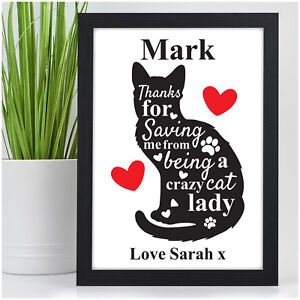 Image Is Loading Personalised Crazy Cat Lady Anniversary Birthday Gifts For