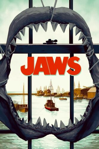 Details about  /Jaws New Giclée Art Print of the 1975 Movie Poster No Frame